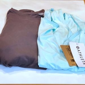 2 Athleta shirts one NWT the other NWOT